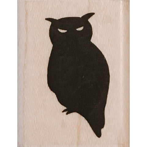 wood stamp - owl silhouette