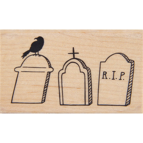 wood stamp - cemetery row