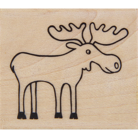 wood stamp - moose