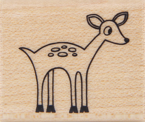 wood stamp - fawn