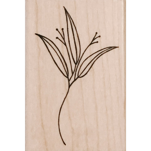 wood stamp - lily