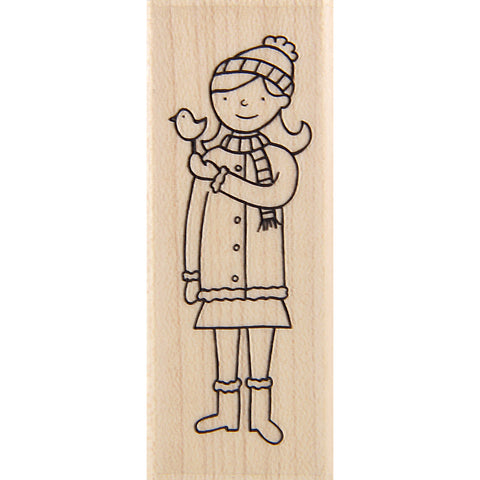 wood stamp - winter friends