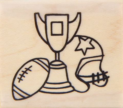 wood stamp - football collage