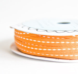 grosgrain stitch - orange