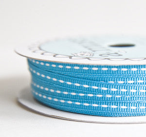grosgrain stitch - ocean - 32.5 yard bolt
