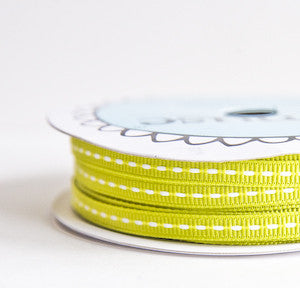 grosgrain stitch - lime