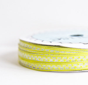 organdy sheer polka dot - lime