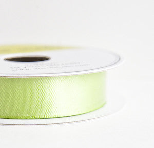 satin ribbon - lime