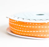 grosgrain stitch - orange & onyx