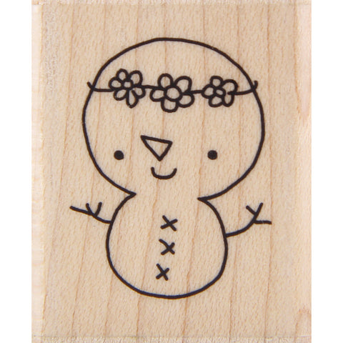 wood stamp - mb hippy snowchick