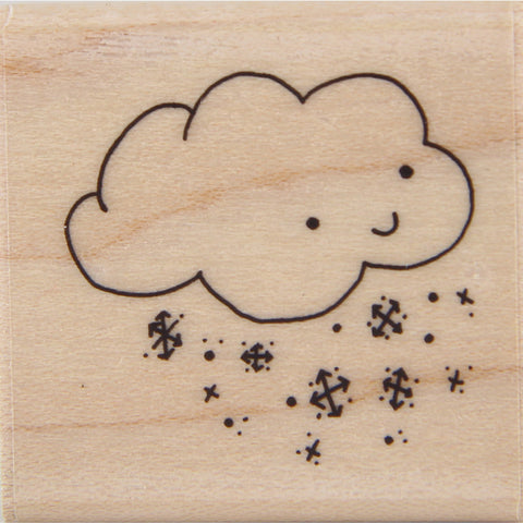 wood stamp - mb snow cloud