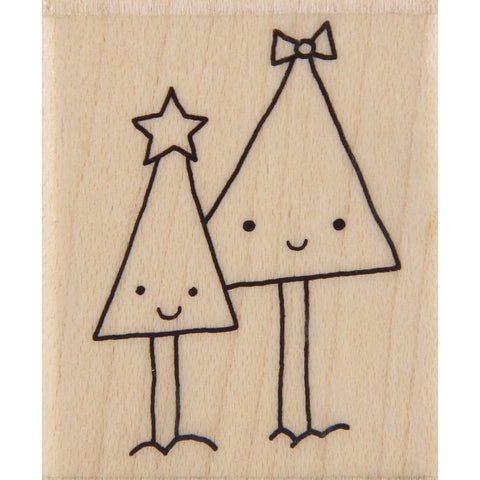 wood stamp - mb tree duo