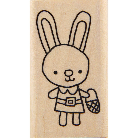 wood stamp - mb bunny dress