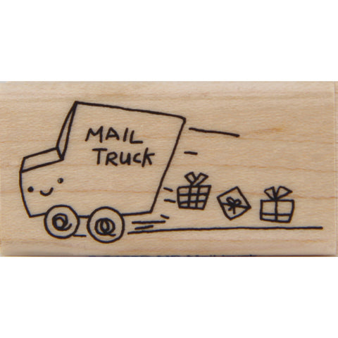 wood stamp - mb mail truck