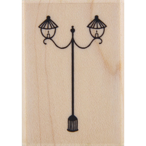 wood stamp - french lampost