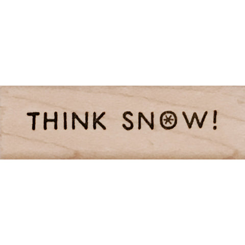 wood stamp - think snow MA