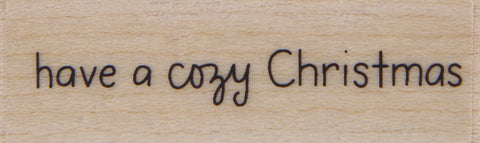 wood stamp - cozy christmas
