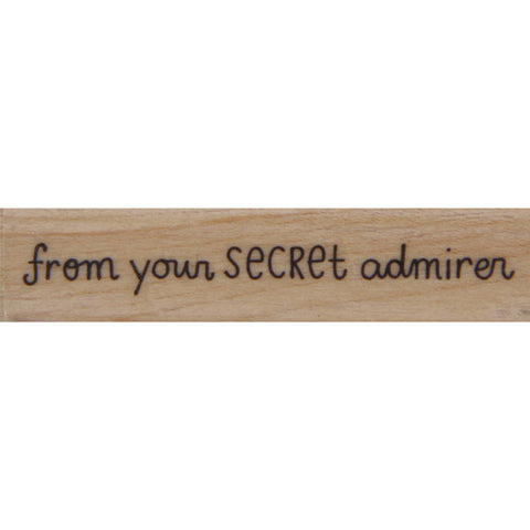 wood stamp - secret admirer