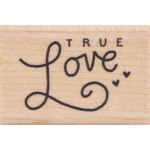 wood stamp - true love MA