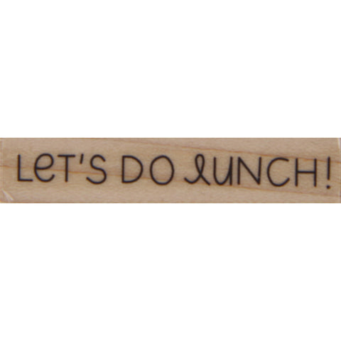 wood stamp - let's do lunch
