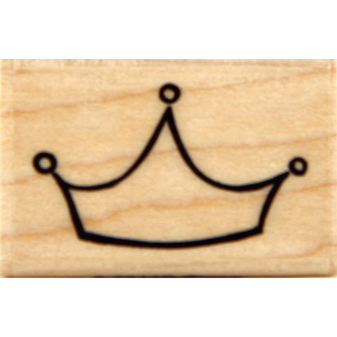 wood stamp - crown