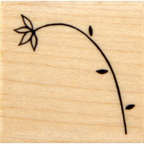 wood stamp - flower strand