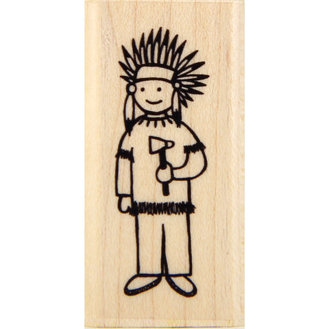 wood stamp - little chief