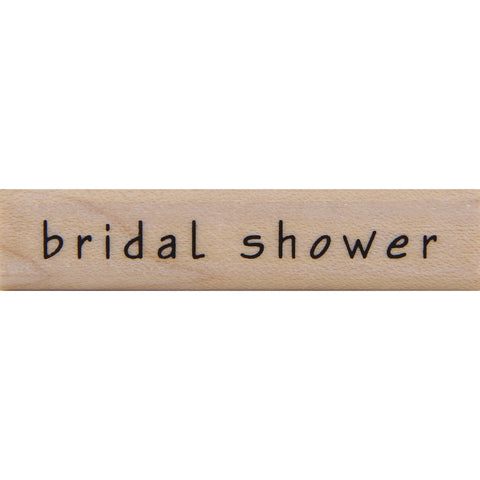 wood stamp - bridal shower