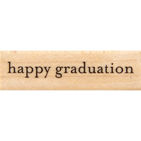 wood stamp - happy graduation EM