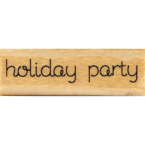 wood stamp - holiday party HC