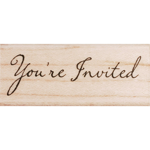 wood stamp - you're invited RM