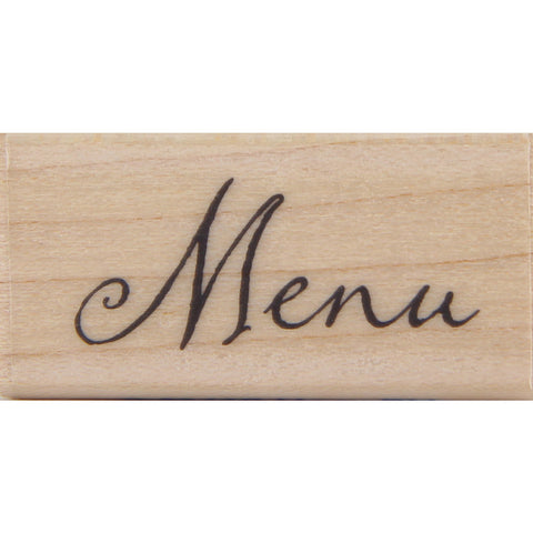 wood stamp - menu