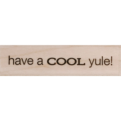wood stamp - cool yule