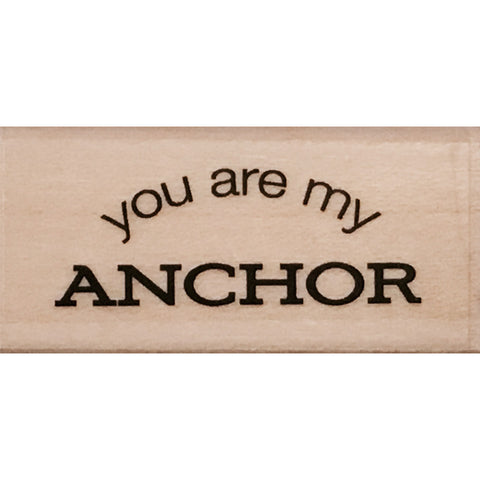 wood stamp - my anchor