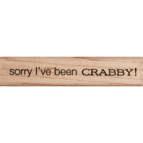 wood stamp - been crabby