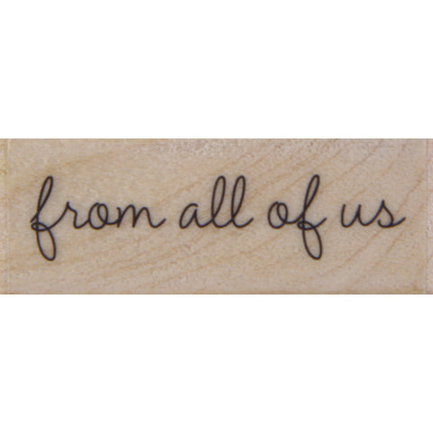 wood stamp - from all of us