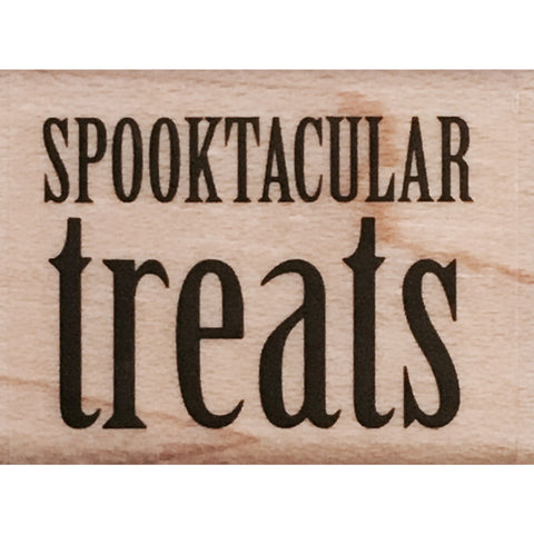 wood stamp - spooktacular treats