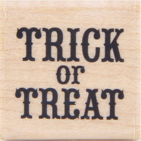 wood stamp - trick or treat