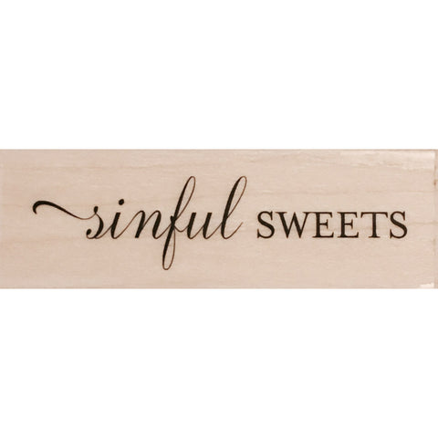 wood stamp - sinful sweets