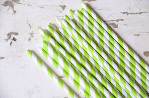 paper straws - lime
