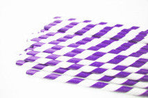 paper straws - grape