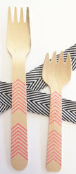 wood forks - large
