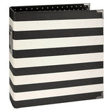 album 6x8 - designer black stripe