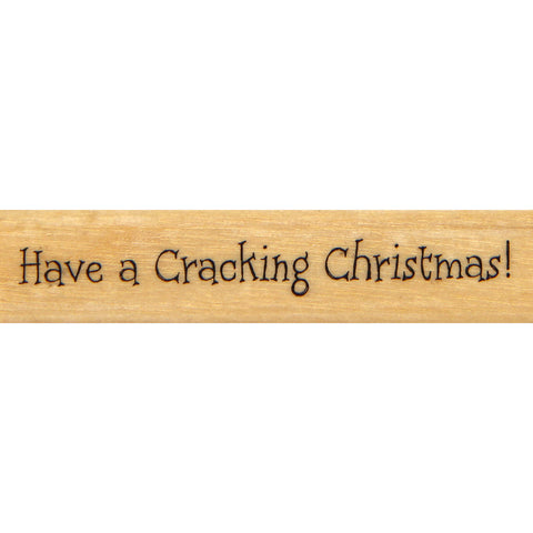 wood stamp - cracking christmas