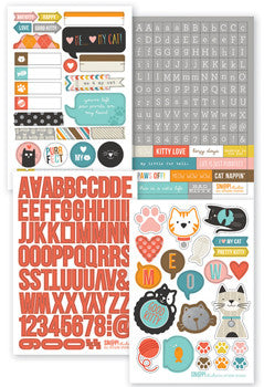 snap cardstock sticker sheets - cat