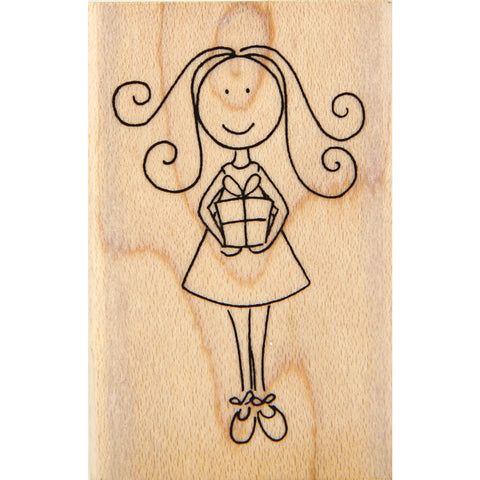 wood stamp - birthday girl