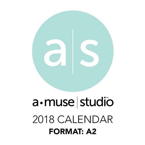 A Muse Studio 2018 Printable Calendars for Charity - A2
