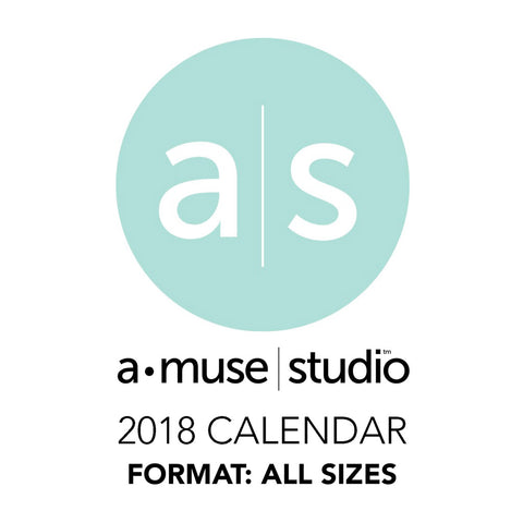 A Muse Studio 2018 Printable Calendars for Charity - all sizes