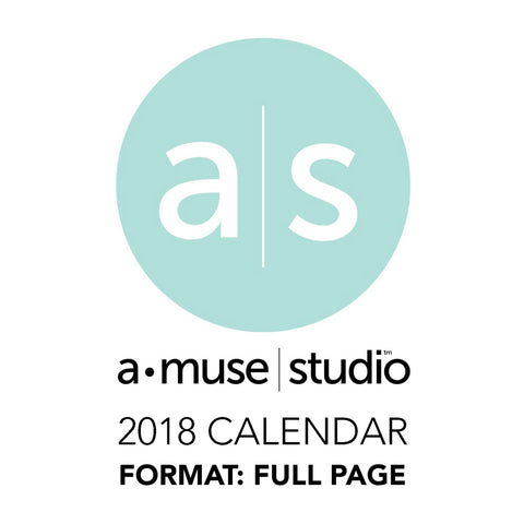 A Muse Studio 2018 Printable Calendars for Charity - full page