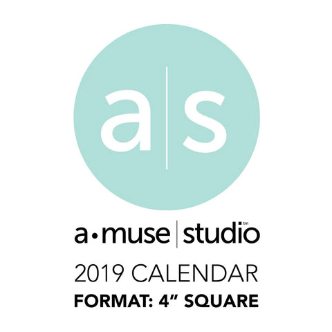 A Muse Studio 2019 Printable Calendars - 4x4